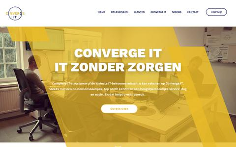Screenshot of Home Page converge-it.be - Home - Converge IT - captured Nov. 10, 2018