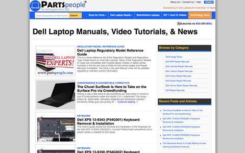 Screenshot of Blog parts-people.com - Dell Service Manuals, DIY Videos, & Technology News | Parts-People.com - captured June 28, 2017