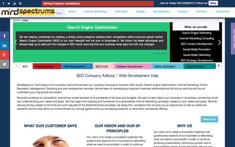 Screenshot of Privacy Page Support Page mindspectrums.com - Mindspectrum Technology - SEO & Web Design Company Kolkata - captured Dec. 9, 2016