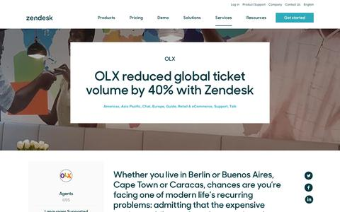 Screenshot of Support Page zendesk.com - OLX Customer Service Story | Zendesk - captured Aug. 4, 2018