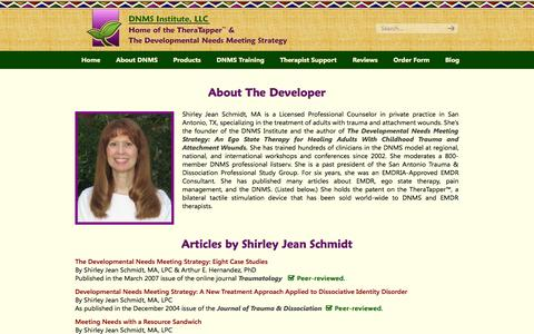 Screenshot of Developers Page dnmsinstitute.com - Shirley Jean Schmidt (developer) «  DNMS Institute, LLC - captured Oct. 27, 2014