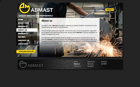 Screenshot of About Page abmast.com - About us | Abmast.com - captured Oct. 4, 2014