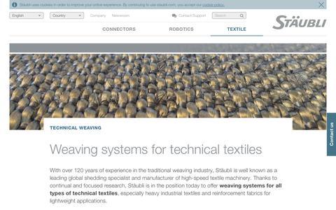 Technical fabrics weaving - Stäubli