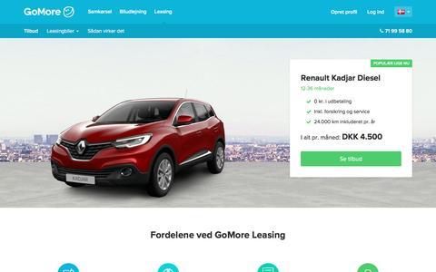 Privatleasing fra GoMore - Billig leasing af bil | GoMore