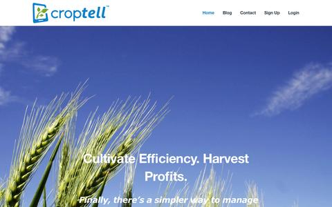 Screenshot of Home Page croptell.com - Croptell | Farm Finance Planning Tool for Farmers and AdvisorsCroptell | Farm Finance Planning Tool for Farmers and Advisors - captured Sept. 30, 2014
