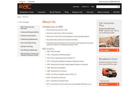 Breakdown Cover, Car Insurance and route planner available from RAC.  | RAC