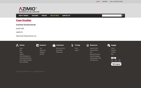 Screenshot of Case Studies Page azimiosystems.com - Azimio Billing System - captured March 7, 2016
