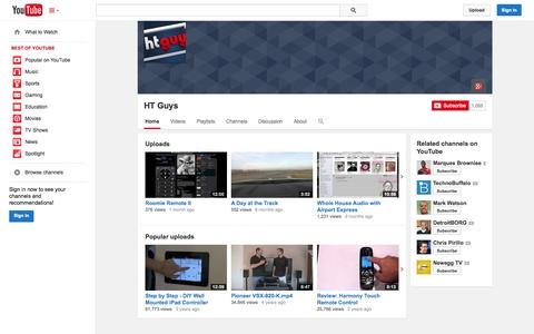 Screenshot of YouTube Page youtube.com - HT Guys  - YouTube - captured Oct. 22, 2014