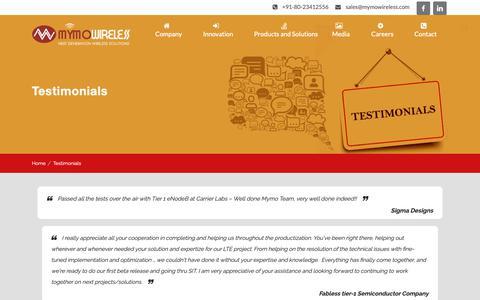 Screenshot of Testimonials Page mymowireless.com - Testimonials Archive - Mymo Wireless - captured Nov. 12, 2018