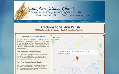 Screenshot of Maps & Directions Page stanncc.com - stannparish | Directions - captured Oct. 18, 2018