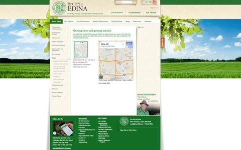 Screenshot of Maps & Directions Page edinamn.gov - City of Edina, Minnesota: City of Edina Street Map - captured Sept. 25, 2014