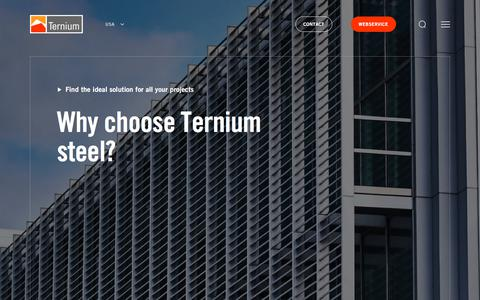 Screenshot of Products Page ternium.com - Products and Services - captured Sept. 20, 2019