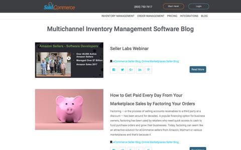Screenshot of Blog solidcommerce.com - Blog test - Amazon inventory management - captured July 9, 2018