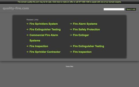 Screenshot of Home Page quality-fire.com - Quality-Fire.com - captured Jan. 29, 2016