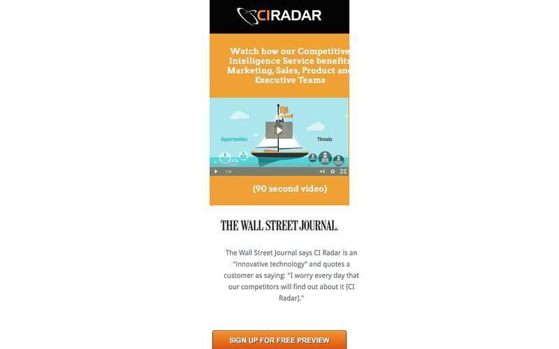 Free  Offer from CI Radar