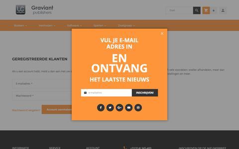 Screenshot of Login Page graviant.nl - Klant Login - captured Sept. 30, 2018