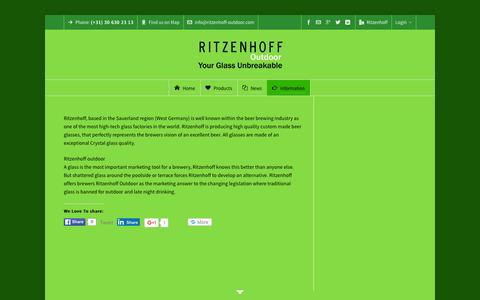 Screenshot of About Page ritzenhoff-outdoor.com - Ritzenhoff outdoor - captured March 8, 2016