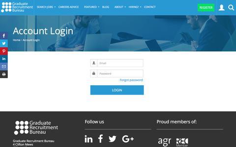 Screenshot of Login Page grb.uk.com - Login to your GRB user Dashboard   GRB - captured June 29, 2017