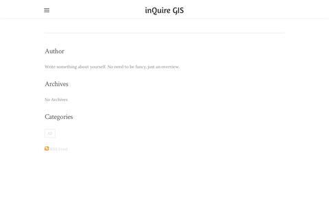Screenshot of Press Page weebly.com - inQuire GIS - News - captured Sept. 20, 2018