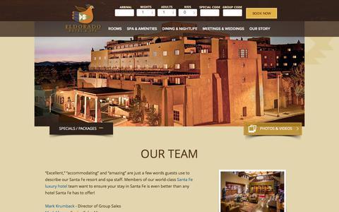 Screenshot of Team Page eldoradohotel.com - Hotel Santa Fe NM, Santa Fe Resort and Spa - Eldorado - captured Nov. 25, 2017