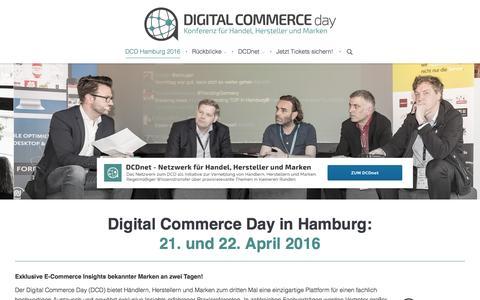 Screenshot of Home Page digital-commerce-day.de - Der Digital Commerce Day: E-Commerce-Konferenz und Netzwerk für Handel, Hersteller und Marken. - captured Sept. 3, 2015