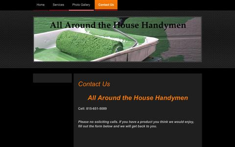 Screenshot of Contact Page allaroundthehousehandymen.com - All Around the House Handyman - Contact Us - captured Feb. 5, 2016
