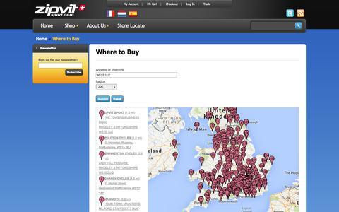 Screenshot of Maps & Directions Page zipvitsport.co.uk - ZipVit Sport - captured Oct. 26, 2014