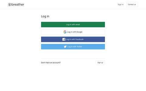 Screenshot of Login Page breather.com - Breather - A space to work, meet and focus - captured Dec. 2, 2019