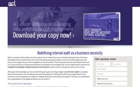 Screenshot of Landing Page acl.com - Download Don't Navigate Risky Waters Without Internal Auditors - captured March 4, 2018