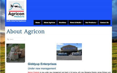 Screenshot of About Page agricon.com.au - About Agricon - Agricon Products - captured Nov. 20, 2016