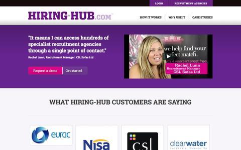 Screenshot of Case Studies Page hiring-hub.com - Case Studies & Reviews | Hiring-Hub.com - captured Sept. 22, 2014