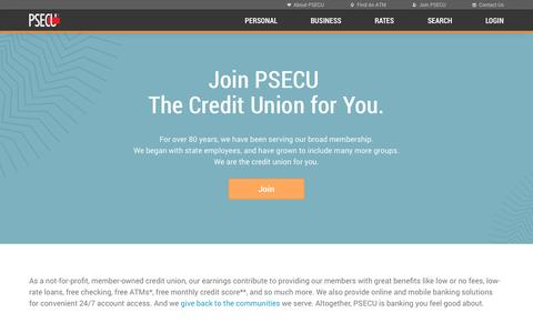 Screenshot of Signup Page psecu.com - PSECU - Join PSECU - captured Oct. 1, 2015