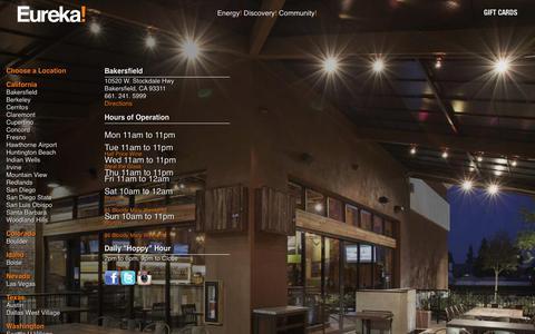 Screenshot of Locations Page eurekarestaurantgroup.com - Bakersfield - Eureka! Restaurants - captured Nov. 5, 2018