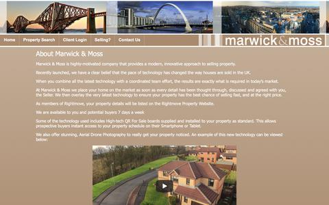 Screenshot of About Page marwickmoss.co.uk - About Us – Estate Agents Cumbernauld | Estate Agents Scotland | Marwick & Moss - captured Sept. 20, 2018