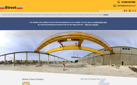 Screenshot of Contact Page streetcrane.co.uk - Contact Street Crane - captured Oct. 20, 2018