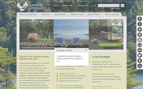 Camping - Camping In Ontario - Ontario Private Campground Associatiom