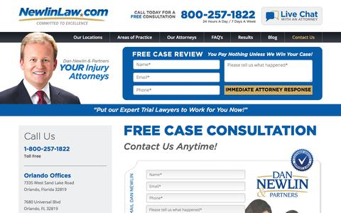 Contact Attorney Dan Newlin - Orlando, FL - Recovered Millions