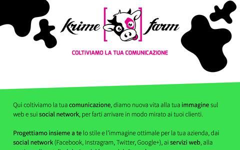 Screenshot of About Page krimefarm.com - Krime Farm - Web design, Graphics, Communication & Marketing - captured Oct. 29, 2014