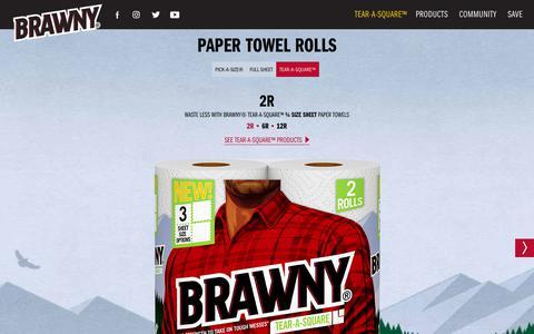 Screenshot of Products Page brawny.com - Paper Towel Rolls | Brawny® - captured Sept. 22, 2018