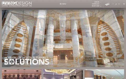 Screenshot of Home Page livingdesign.com - Living Design - captured Oct. 3, 2014