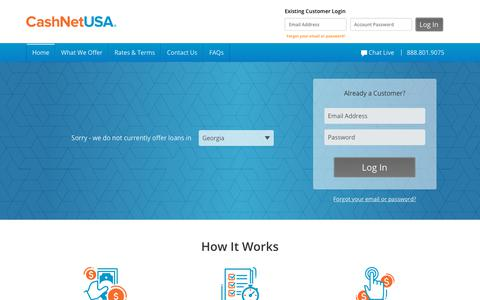 CashNetUSA Online Loans - Official Site | Money's on the way®