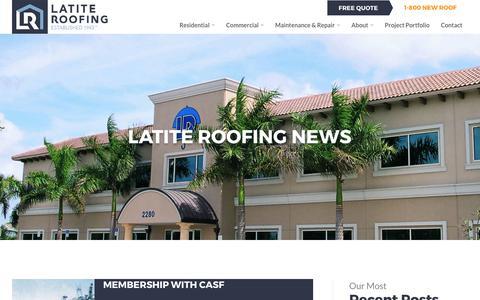 Screenshot of Press Page latite.com - Latest News   Latite Roofing - captured July 17, 2017
