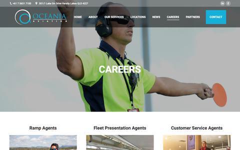 Screenshot of Jobs Page oceaniaaviation.com - Careers – Oceania Aviation - captured Dec. 11, 2018
