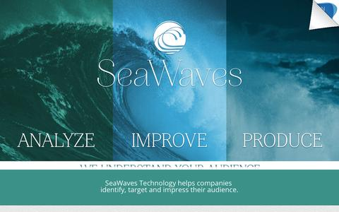 Screenshot of Home Page sea-waves.net - SeaWaves Technology | Home - captured March 7, 2016