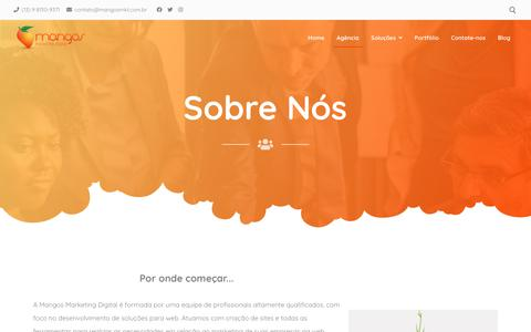 Screenshot of About Page mangosmkt.com.br - Sobre Nós – Mangos - captured Jan. 24, 2020