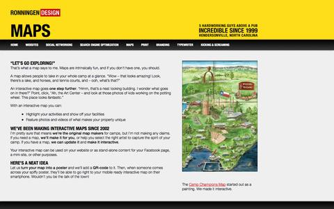 Screenshot of Maps & Directions Page websitesthatdostuff.com - Show off your camp property with an interactive map - captured Oct. 6, 2014