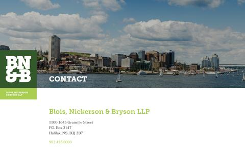 Screenshot of Contact Page bloisnickerson.com - Contact | Blois, Nickerson & Bryson - captured Nov. 22, 2016