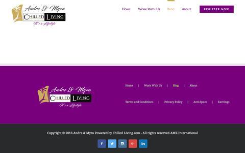 Screenshot of Blog chilledliving.com - Blog - ChilledLiving by Andre & Myra Kotze - captured Oct. 24, 2016