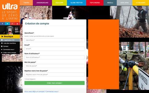 Screenshot of Signup Page ultramag.fr - UltraMag - Inscription - captured Dec. 17, 2018