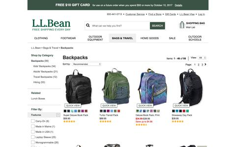 Backpacks | Free Shipping at L.L.Bean
